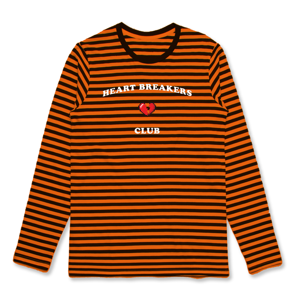 Heartbreak Club Orange Striped Longsleeve (Halloween Sale)