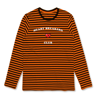 HEARTBREAK CLUB STRIPED LS