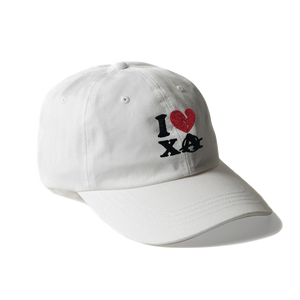 I LOVE XA DAD HAT (WHITE)