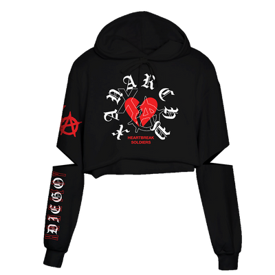 XA Cut Out Crop Hoodie