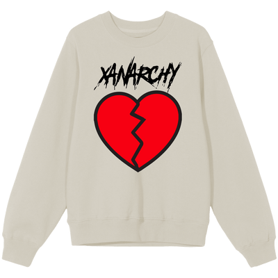 Broken Heart White Crewneck