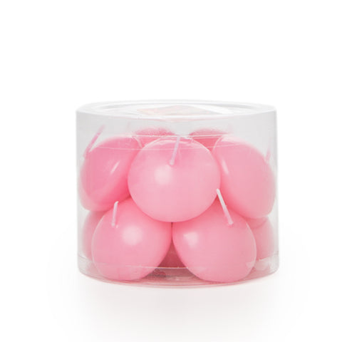 Rose Scented Pastel Pink Floating Candles