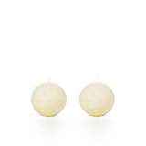 Cream Spherical Candles (8cm)