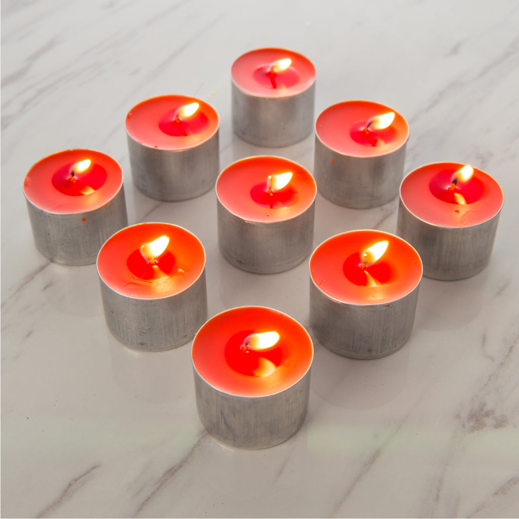 Red Tealight Candle 8 Hours Singkongwhee