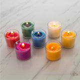 8 Hours Clear Cup Votive Candle  - Multi Colored