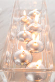 Metallic Silver Floating Candles