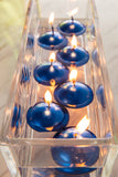 Metallic Blue Floating Candles