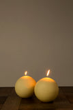 Cream Spherical Candles (10cm)
