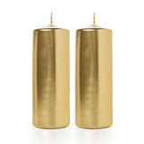 Metallic Gold Pillar Candle (Diameter 7cm x Height 20cm)