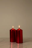 Metallic Red Pillar Candle (Diameter 7cm x Height 15cm)
