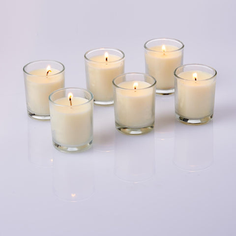 Glass Votive Candles (Non - Scented)