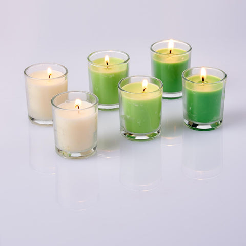 Jasmine Scented Glass Votive Candles