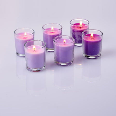 Lavender Scented Glass Votive Candles