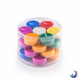 4 Hours Clear Cup Tealight Candles (Multi-Colored)