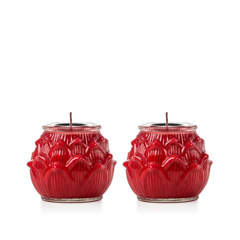 Red Glass Lotus (Medium)