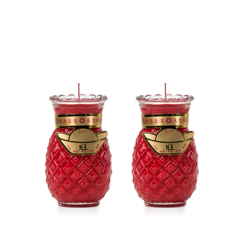 3 Days - Red Pineapple Candle (Medium)