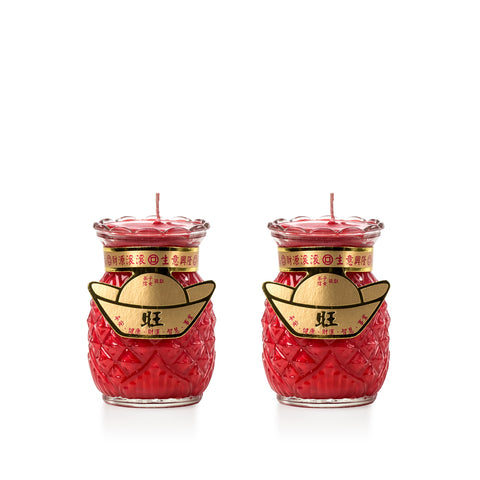 1 Day - Red Pineapple Candle (Small)