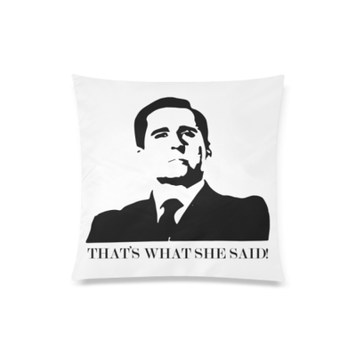 "The Office Zippered Pillow Case 20""x20""(Twin Sides)"