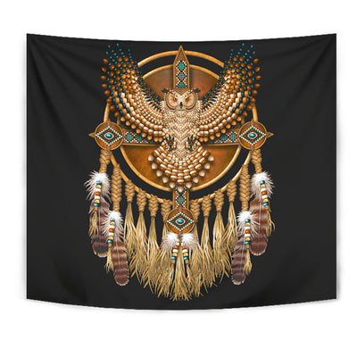 Native Americans Owl Tapestry