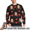 Personalized Girlfriend Face Crew Sweatshirt for Men
