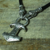Viking Raven Wolf Necklace