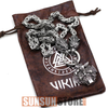Image of Viking Wolf Head with Odin Handmade Chain Necklace