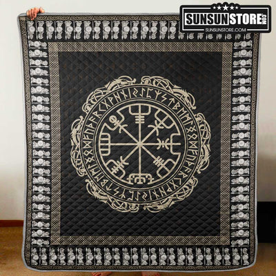 The Vegvisir Symbol Viking Quilt
