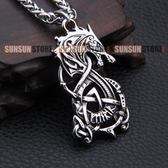 Fenrir Wolf stainless steel necklace