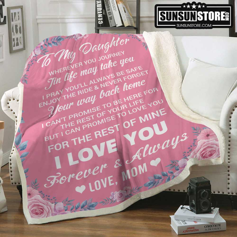 Details about  /Rose Mom To Daughter I Love You Forever And Always Sherpa Blanket