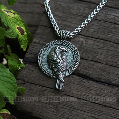 Viking Raven Necklace
