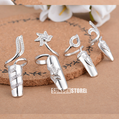 Nail Rings For Women Silver 925 Jewelry