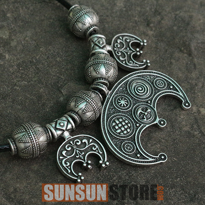 Viking Necklaces Boob Bling Lunula Pendant Slavic Jewelry