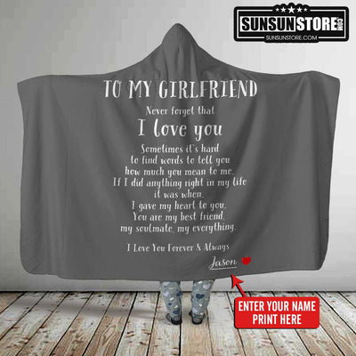 Personalized Hooded: To My Girlfriend with Your Name - Perfect gift for Girlfriend