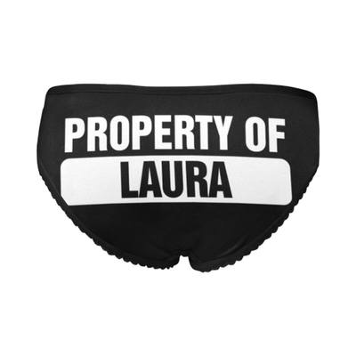 PROPERTY OF Personalized Women's All Over Print Briefs
