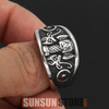 Image of Norse Viking Thor Hammer Mjölnir with Goat Ring