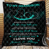 To My Grandson Wherever Your Journey In Life May Take You Quilt