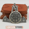 Image of Bear Paw with Slavic Axe Viking Necklace