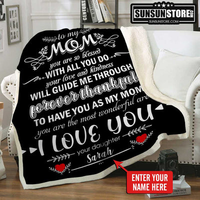 Personalized Blanket: To My Mom with Your Name - Perfect gift for Mom