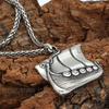 Image of Viking Ship Stainless Steel Pendant Necklace