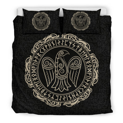 Raven in Celtic Bedding Set