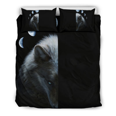 Wolf and Moon Bedding Set