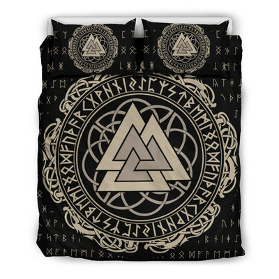 Viking Valknut Runic Symbol Bedding Set
