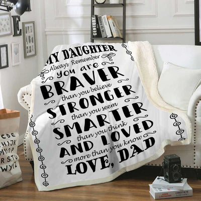 To My Son (Daughter) - Family Blanket - Perfect gift for children