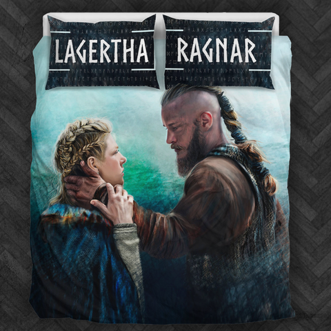 Vikings Lagertha and Ragnar Bedding Set - FREE SHIPPING WORLDWIDE