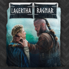 Image of Vikings Lagertha and Ragnar Bedding Set - FREE SHIPPING WORLDWIDE