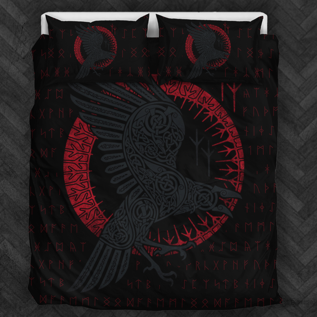 New Viking Raven Bedding Set Free Shipping Worldwide
