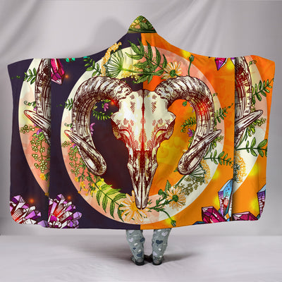 Viking Baphomet Hooded Blanket