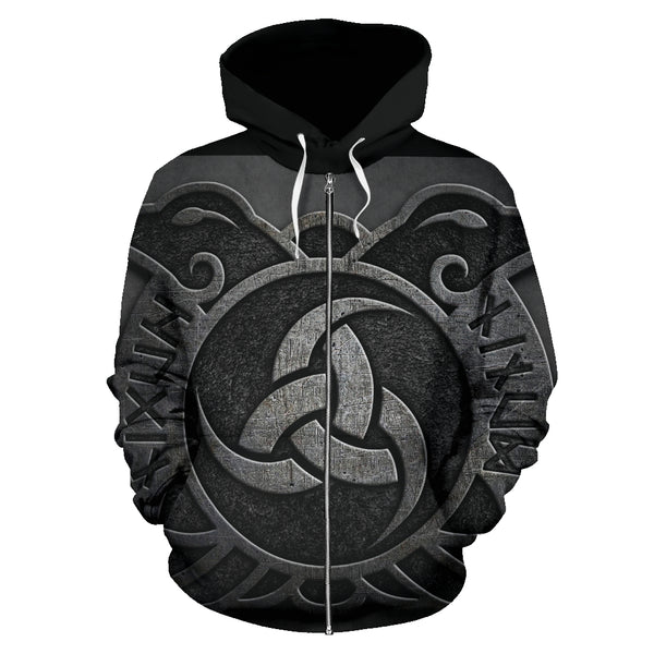 Huginn And Muninn Zip Up Hoodie