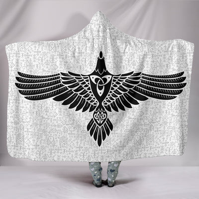 The Raven of Odin Hooded Blanket