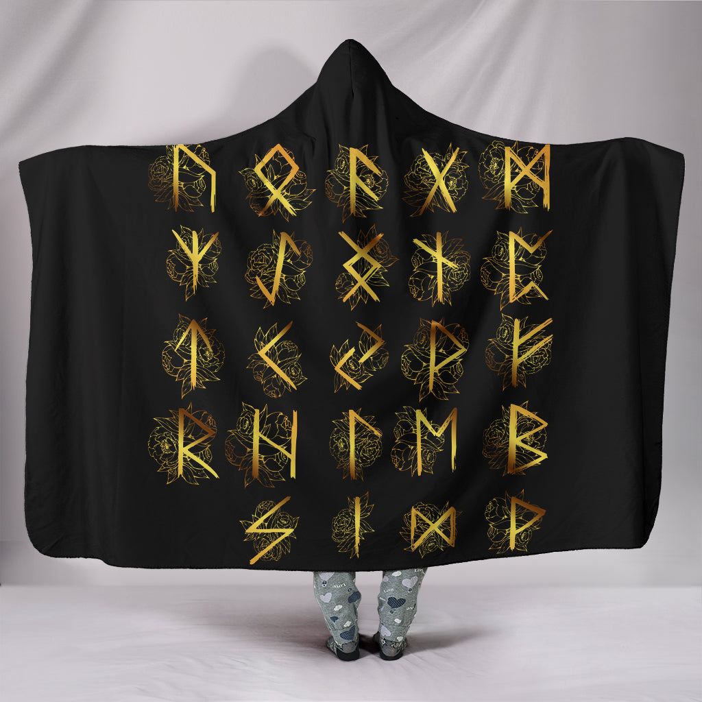 Viking Symbol Hooded Blanket